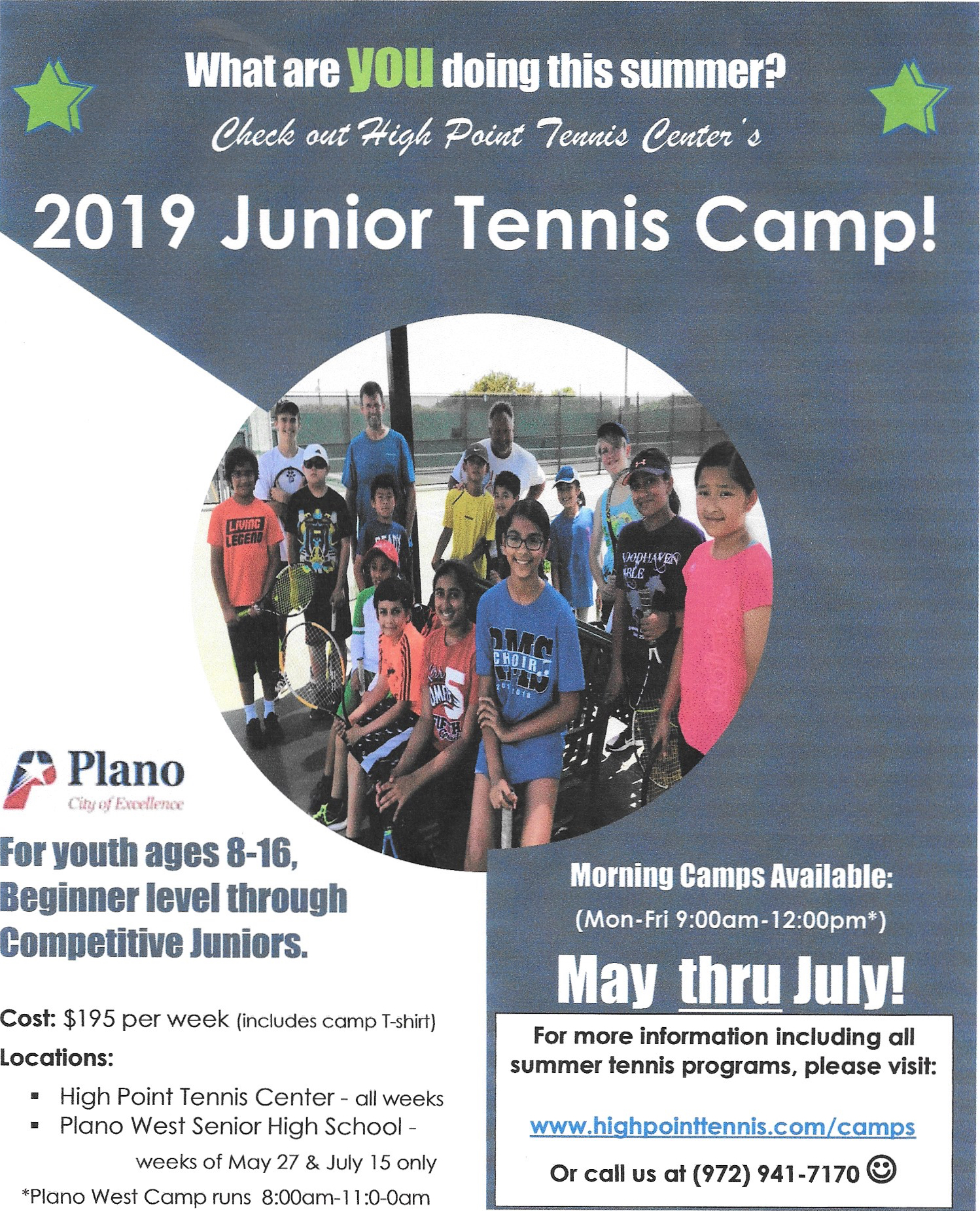 HPPTC Junior Smmer Camps